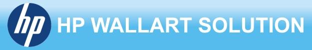 Войти в приложение HP WallArt Solution